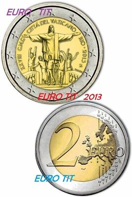 2 €  VATICAN  COMMEMORATIVE     JOURNEE  DE LA  JEUNESSE     2013  /  disponible