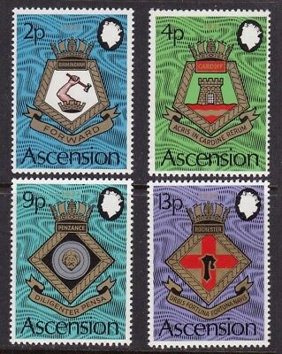 Ascension #166-169 Mnh Naval Coats Of Arms
