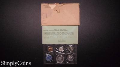 1958 Proof Set ~ Original Envelope With COA ~ US Mint Silver Coin Lot SKU-800