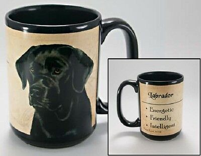 15 oz. Faithful Friends Mug - Black Labrador Retriever MFF108 IN STOCK