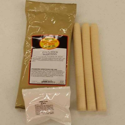 25 Lb Snack Stick Kit Includes Seasoning, Casings, Cure