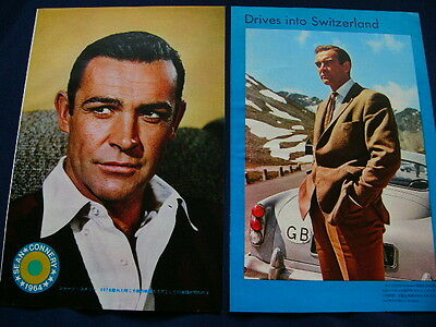 1960s Sean Connery DR. NO THUNDERBALL Japan VINTAGE 77 Clippings & 2 Posters