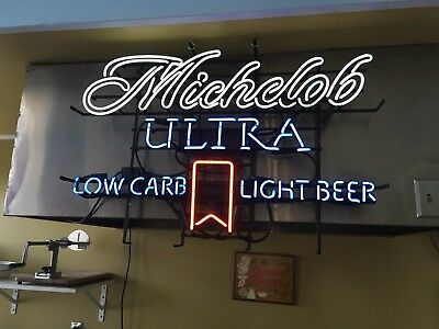 Vintage original from a bar Large Michelob Ultra  Beer neon sign