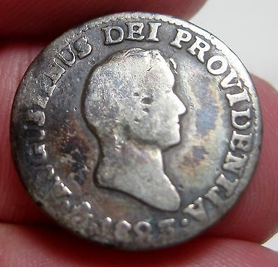 1823 JM (MEXICO) 1/2 REAL (ITURBIDE) SILVER - ONE YEAR--- very scarce--