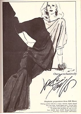 1982 Lord & Taylor Fred Greenhill Bill Haire Print Advertisement Vintage Ad 80s