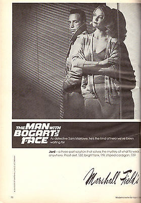 1980 Marshall Field's The Man With Bogart's Face Movie Print Ad Vintage VTG 80s