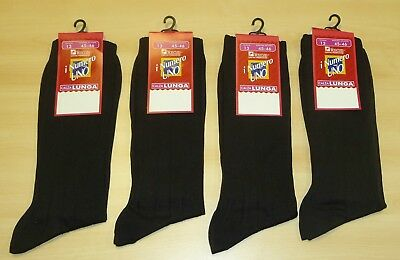 5 PAIRS OF VINTAGE 1980's MEN'S LONG LENGTH NUMERO UNO BLACK SOCKS SIZE 11-12
