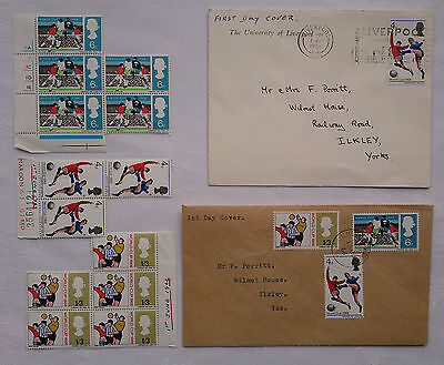 Football World Cup 1966,england,f D C June 1St 1966 + Stamps + First Day Cover