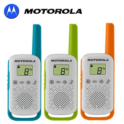 4Km Motorola TLKR T41 Walkie Talkie 2 Two Way PMR 446 Orange Radio Set Eight