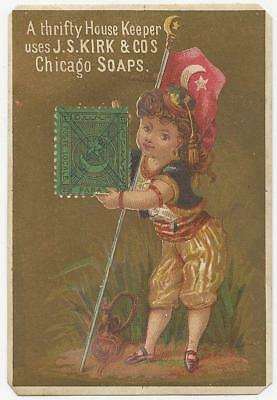 Victorian Trade Card for Jas. S. Kirk Soap Makers with Young Turkish Lady