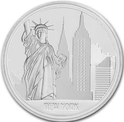 Niue - 2017 1oz Silver $2 Coin - Great Cities -New York with COA/BOX (1095/3000)