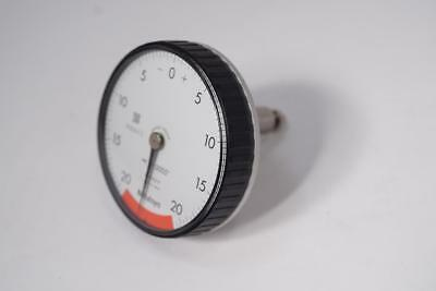 "New Mitutoyo Back PLUNGER Dial Indicator.0005"" Grad, 20-0-20 . Japan."