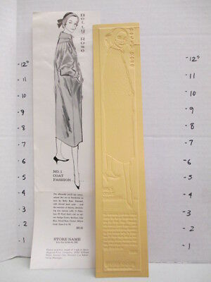 BETTY ROSE 1957 news advertising mat women's clothing Eames coat suit #1