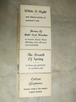 GAY GARMENTS (4) 1950s store display sign vintage women's clothing TEXT #6