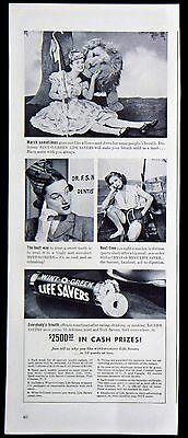 Vintage 1941 Wint-O-Green Life Savers Candy Mints Magazine Ad