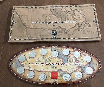 1999 Canada Millennium Quarters Set With Royal Canadian Mint Packaging
