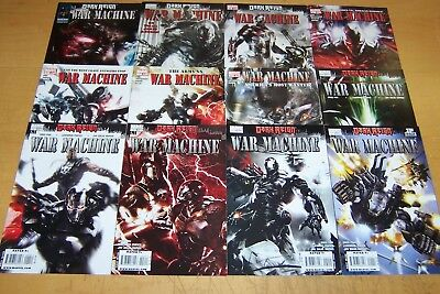 Marvel Comics War Machine 1-12 Full Set Iron Man Dark Reign 2009/10