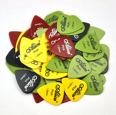 100Pcs Alice Heavy 1.2mm ABS Smooth Guitar Picks Plectrum For Electric Guitar
