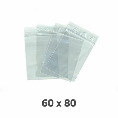 Lot 100 Sachet Plastique Transparent Zip Dimension 80 X 60 Mm / 60 X 80