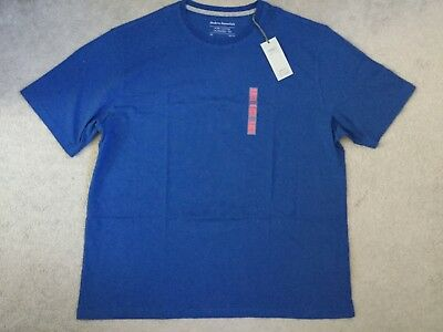 M&S Crew Neck T.shirt In Indigo Blue With Short Sleeves -Slim Fit -Size Xxl-Bnwt
