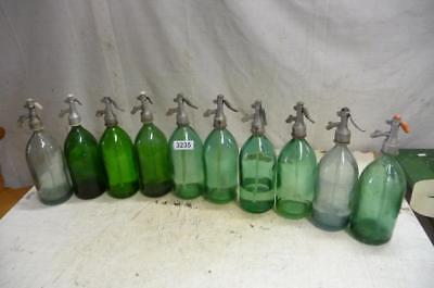3235. 10 alte Sodaflaschen Siphonflasche Old soda siphon seltzer