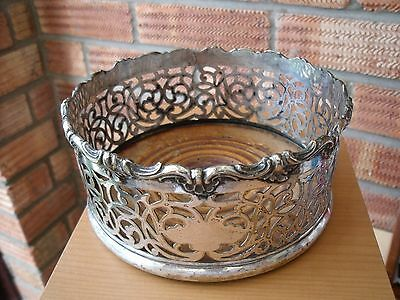 Antique 19thC Silver Plated Wine Coaster with Shell pattern,
