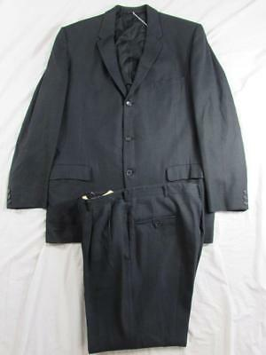 Vtg 50s 2 Pc Drop Loop Wool Suit Hollyood Jacket & Pants VLV Pincord Pattern