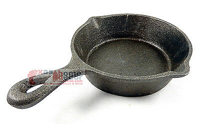 Cast Iron Skillet Small Country Decor Heavy Duty Cookware Antique Style 5""