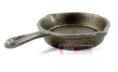 Small Rustic Cast Iron Skillet Decorative Kitchenware Home Decor Cookware 4 inch