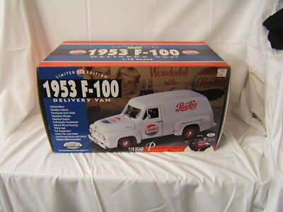 1953 F-100 Pepsi-Cola Delivery Van MIB 1:18 Scale Limited Ed c 1996