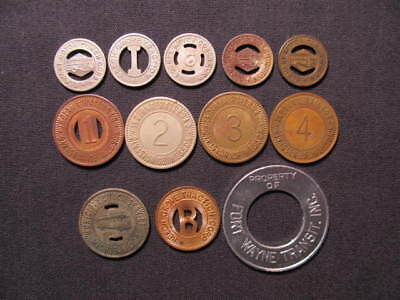 Indiana Transportation Tokens Collection - (12) IN Transportation Tokens Coins