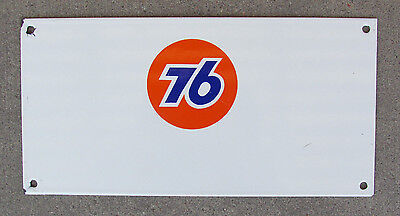 Union 76 Porcelain Sign Original Truck Door Sign Gas Station Oil NOS? Old