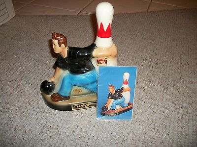 Ezra Brooks Bowling Decanter-With Insert-Pristine Collectible-Ships Free Usa