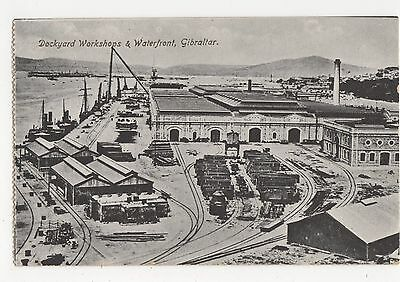 Gibraltar, Dockyard Workshops & Waterfront Postcard, A795