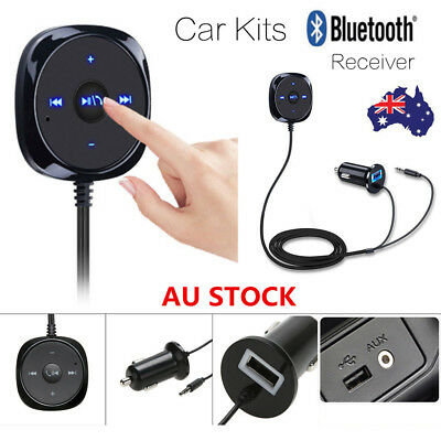 3.5mm Jack Wireless Bluetooth Car Kit Handsfree Music Aux Audio Receiver Adapter