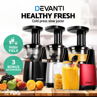 Devanti Cold Press Slow Juicer Fruit Vegetable Processor Mixer Extractor
