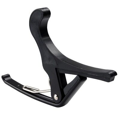 Quick Change Tune Clamp Key Capo For Acoustic Electric Classical Guitar Black