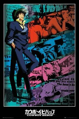 COWBOY BEBOP ~ SPIKE LEANING ~ 24x36 ANIME POSTER ~ NEW/ROLLED~