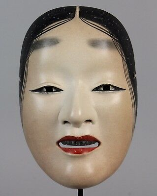 Japanese Noh Mask depicting Waka Ona character  L22