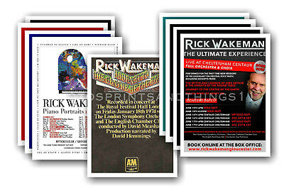 RICK WAKEMAN  - 10 promotional posters - collectable postcard set # 1