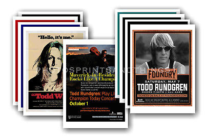 TODD RUNDGREN  - 10 promotional posters - collectable postcard set # 1