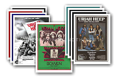 URIAH HEEP  - 10 promotional posters - collectable postcard set # 1