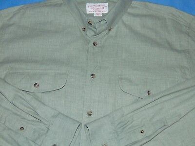 C.c. Filson Cotton/wool Light Green Long Sleeve Button Down Shirt 2Xl Mint Cond.