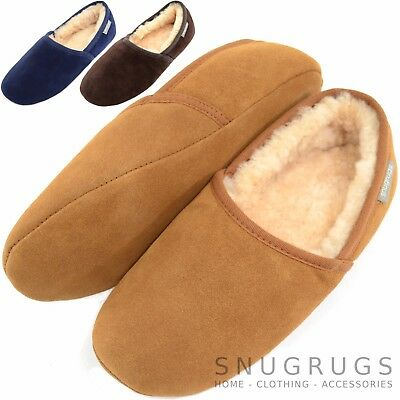 d24d15c16b8 SNUGRUGS MEN S SUEDE Sheepskin Moccasin Slippers With Soft Sole ...