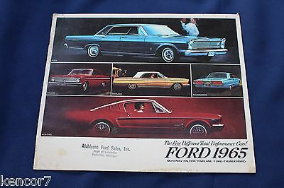 1965 Ford Full Line Sales Brochure E2373