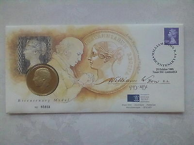 William Wyon Bicentenary.royal Mint Coin First Day Cover.29-10-1995.artist Stamp