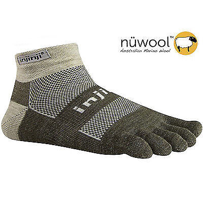 Injinji Outdoor Original Weight Micro Toe Socks- NuWool Oatmeal-Large