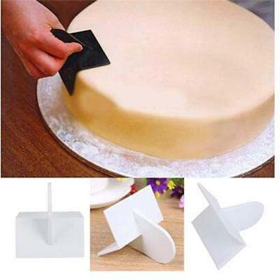 Edge Cake Decorating Side Scraper Buttercream Icing Smoother Sugarcraft Finisher
