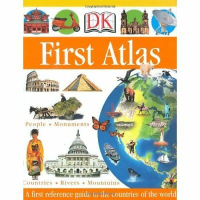 DK First Atlas (DK First Reference Series) - Hardcover NEW Publishing, DK 2004-0