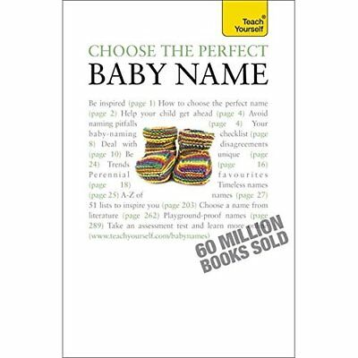 Choose the Perfect Baby Name: Teach Yourself - Paperback NEW Wilson, Victori 201
